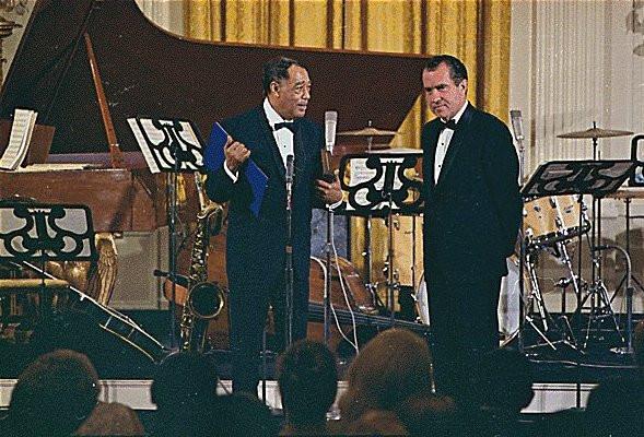 Duke Receives the Presidential Medal of Freedom in 1969