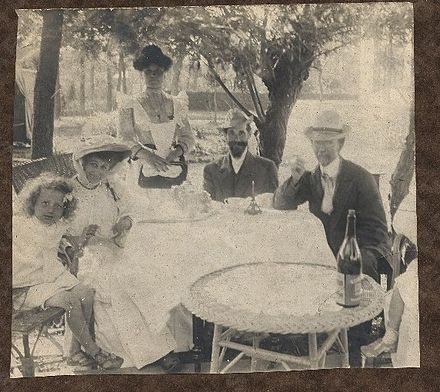 Tanner Family Portrait: Jesse and Jessie on the left and Henry at the far right