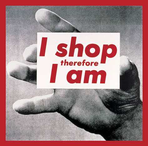 Untitled (I shop therefore I am) (1987) by Barbara Kruger