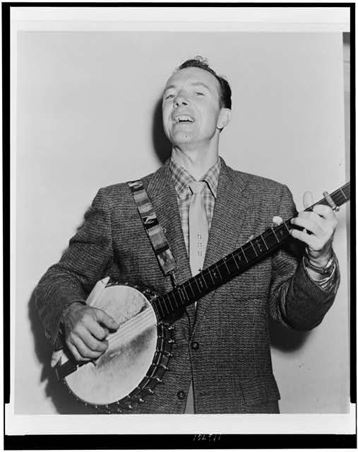 Pete Seeger in 1955 from LoC