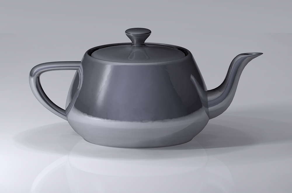 A modern version of the Utah teapot model