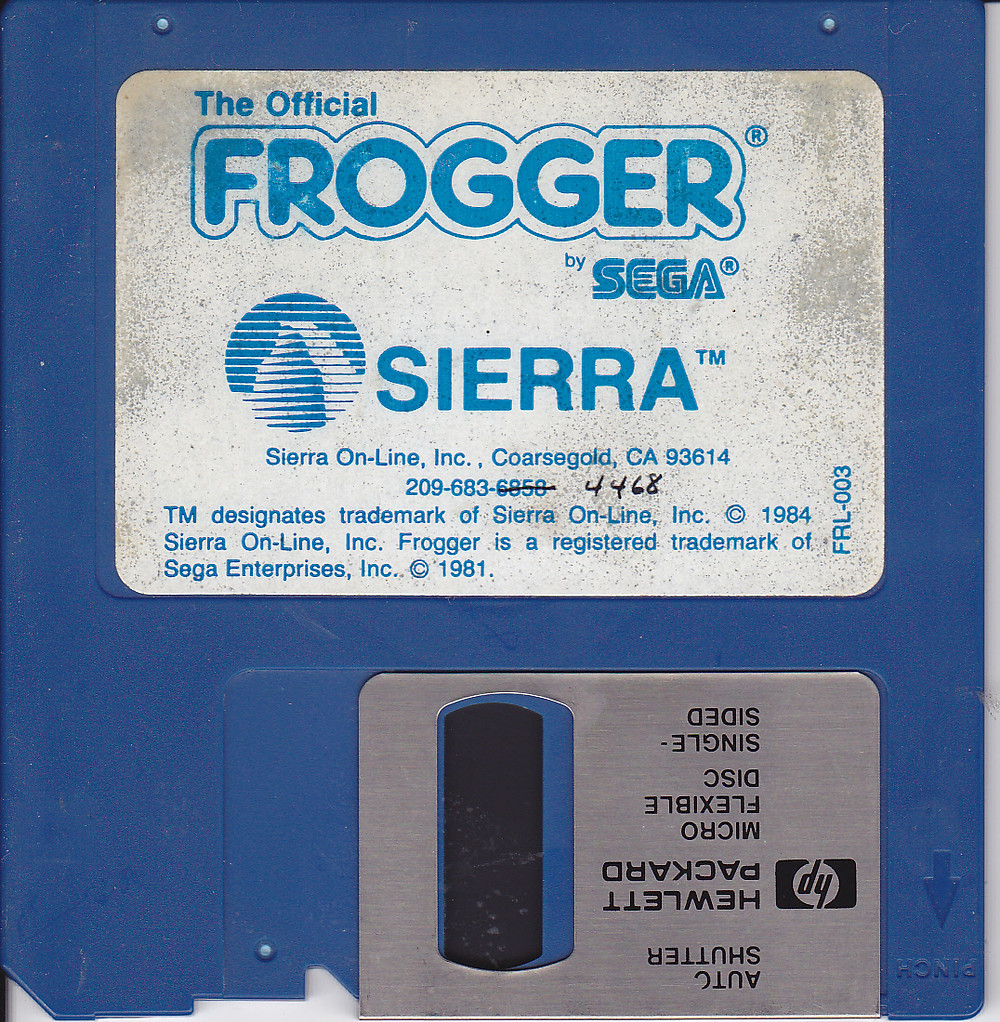 Frogger disk by Sierra On-Line for IBM PC