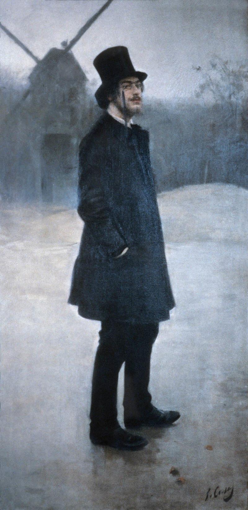 "Satie, Moulin de la Galette (""The Bohemian""), Ramon Casas, (1891)"