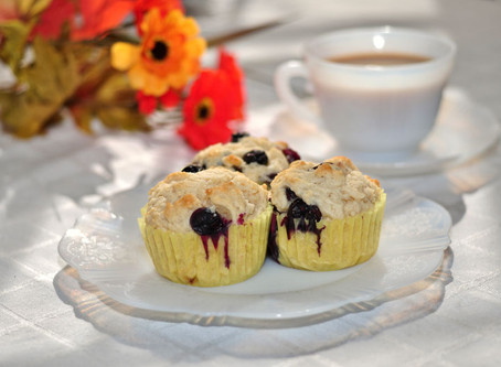 Ricotta Lemon Blueberry Muffins and The Legend of Earl Grey