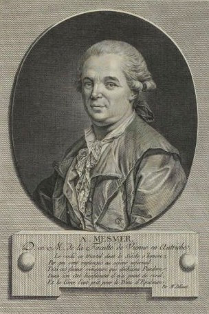Print of Franz Anton Mesmer preserved at the museum of the French Revolution