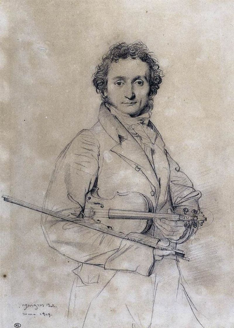 Niccolò Paganini (1819) by Jean-Auguste-Dominique Ingres