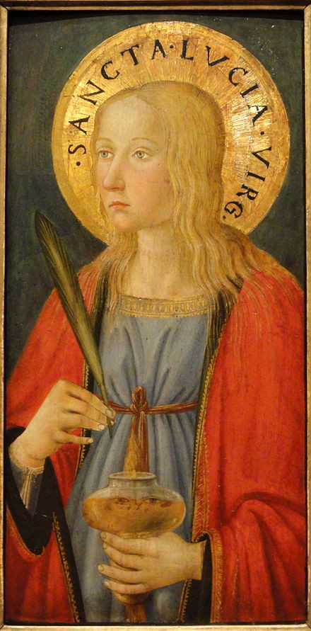 Lucy by Cosimo Rosselli, Florence, c. 1470, tempera on panel