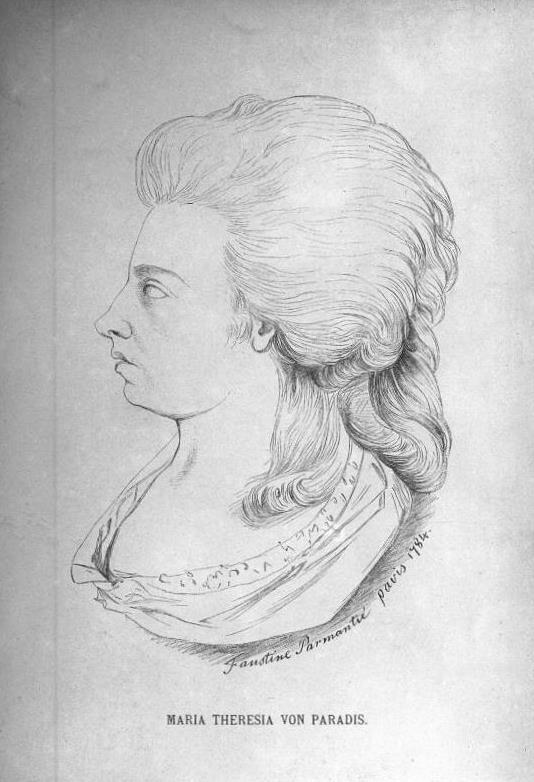 Maria Theresia Paradis, by F. Parmantié c. 1674