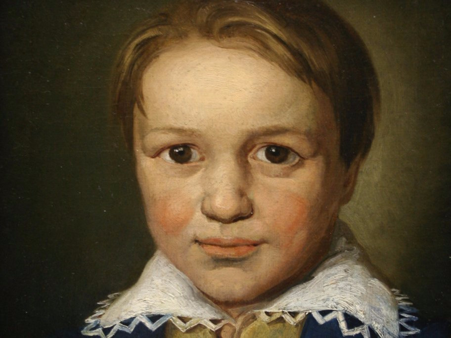 Crop of Anonymous, Beethoven Portrait at 13 in 1783