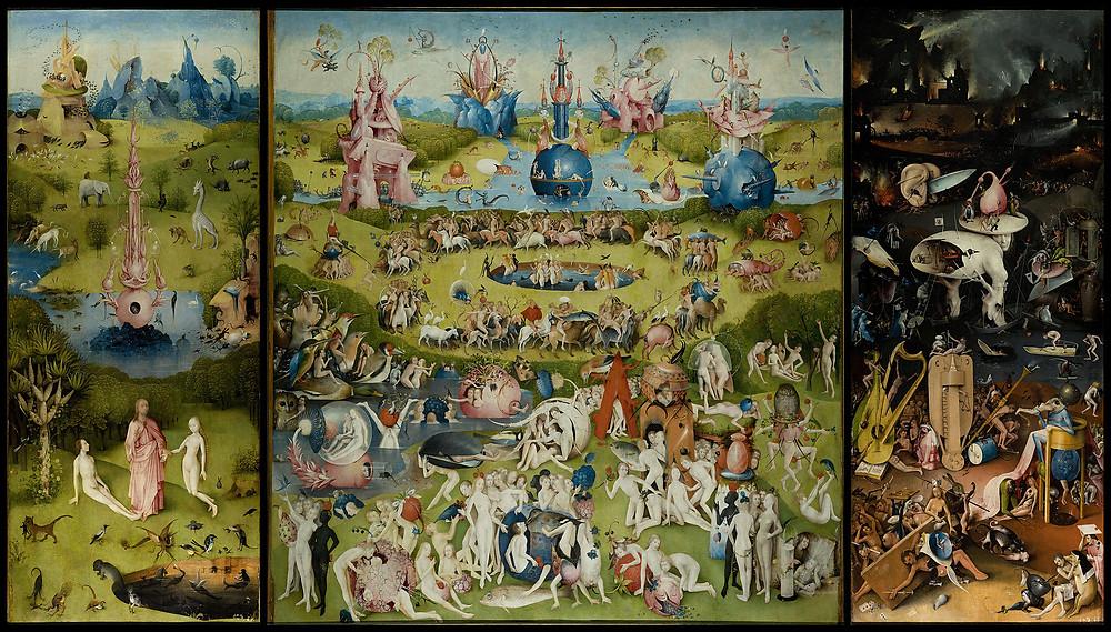 Hieronymus Bosch's The Garden of Earthly Delights (c. 1495–1505)  Museo del Prado in Madrid