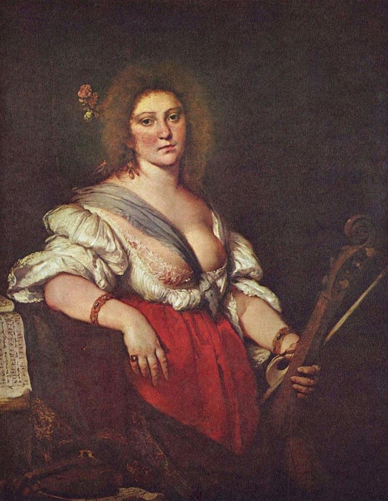 Suonatrice di viola da gamba by Bernardo Strozzi (c. 1581 – 1644)