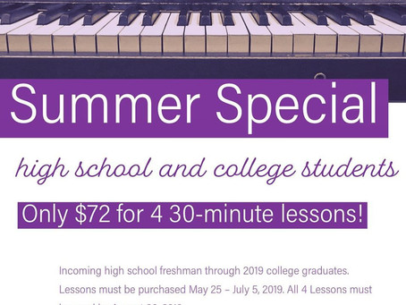 Summer Special for High School and College Students