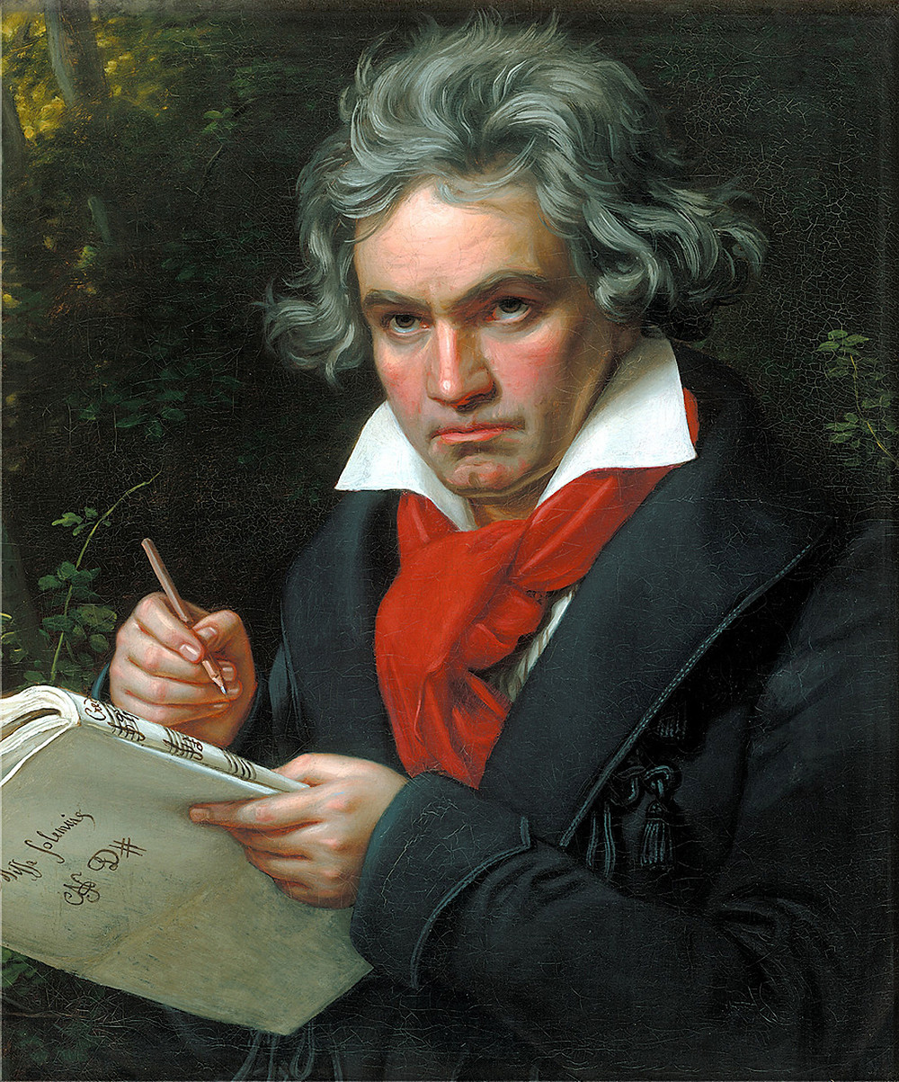 Portrait with Missa Solemnis, Stieler, 1820