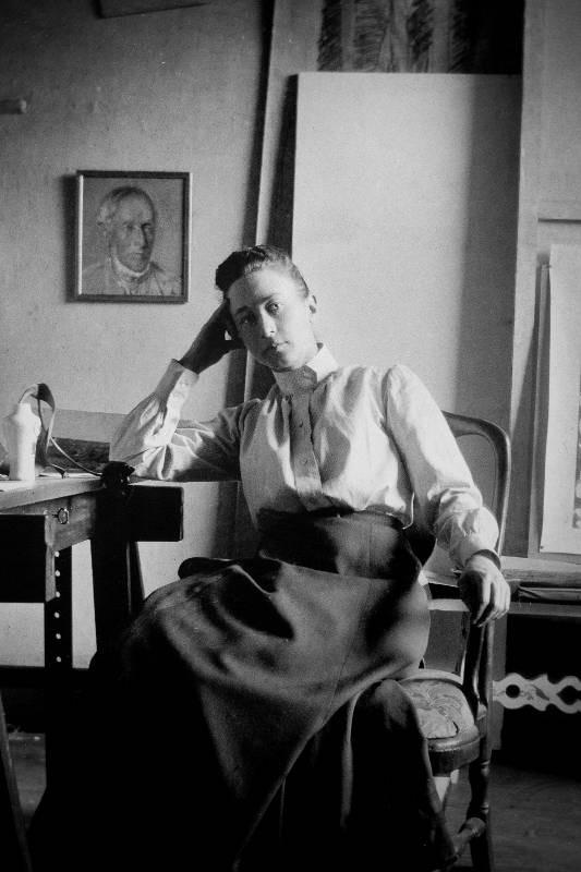 Hilma af Klint in her studio, c. 1895