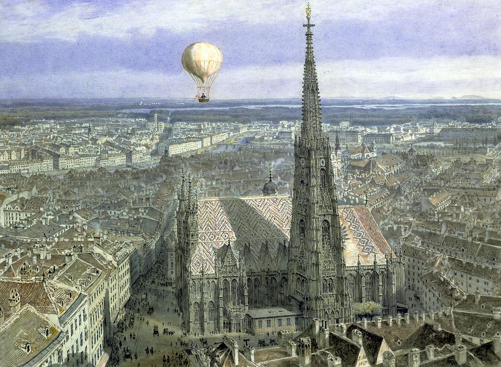 St. Stephen's, Jakob Alt, Watercolor, 1847