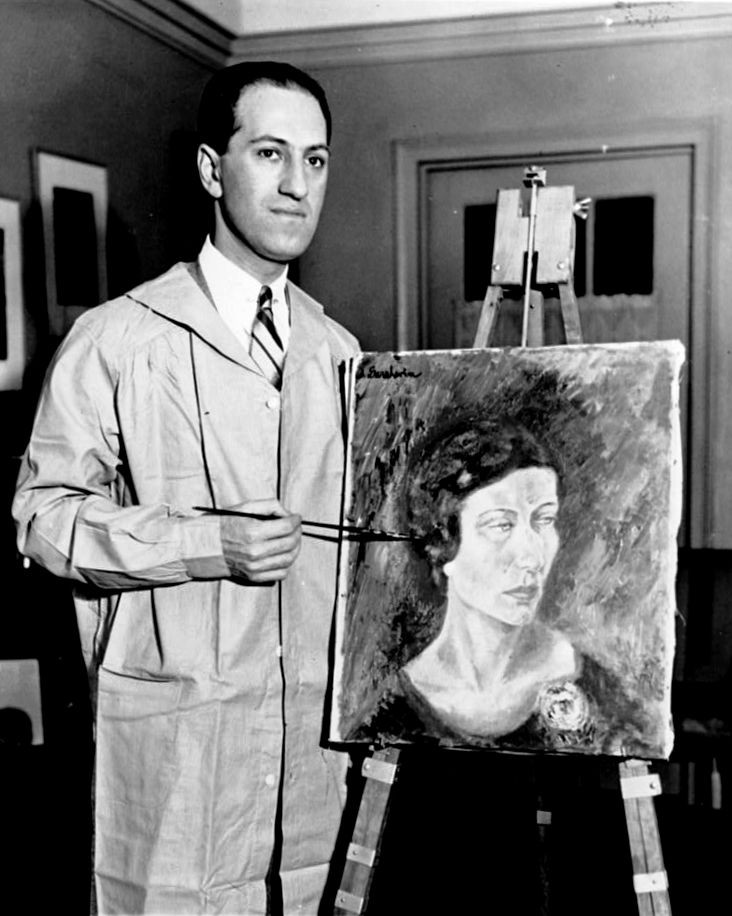 George painting a portrait, Library of Congress