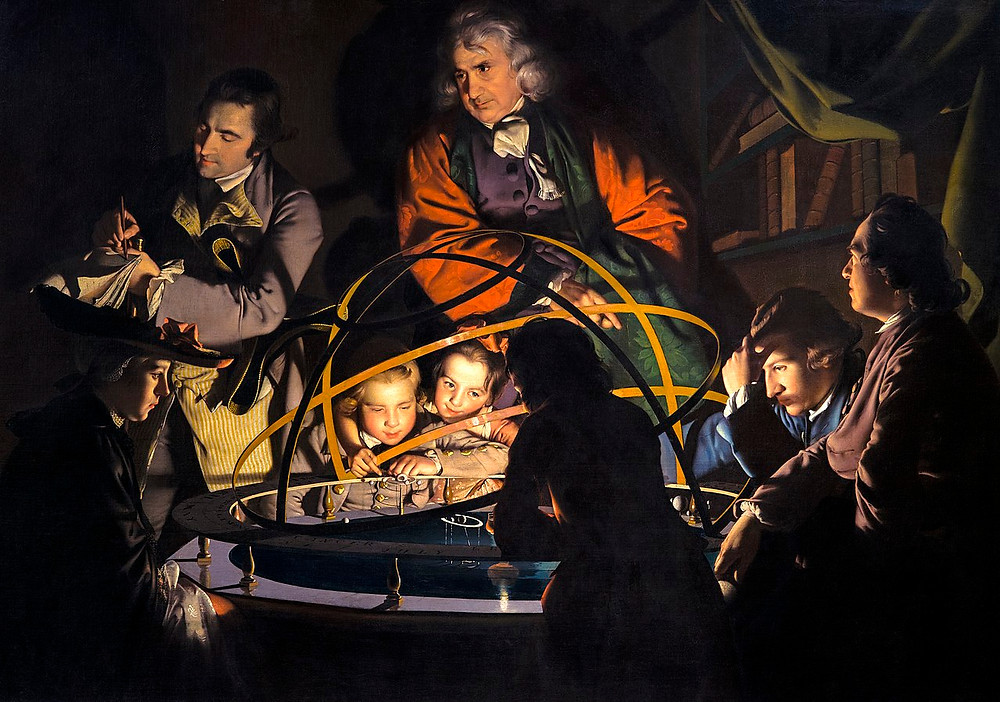 A Philosopher giving that Lecture on the Orrery in which a lamp is put in place of the Sun, is a 1766 painting by Joseph Wright of Derby