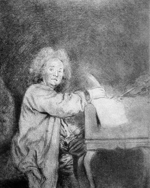 Jean-Féry Rebel, ca. 1710?, drawing by Antoine Watteau, Musée Magnin, Dijon (France)