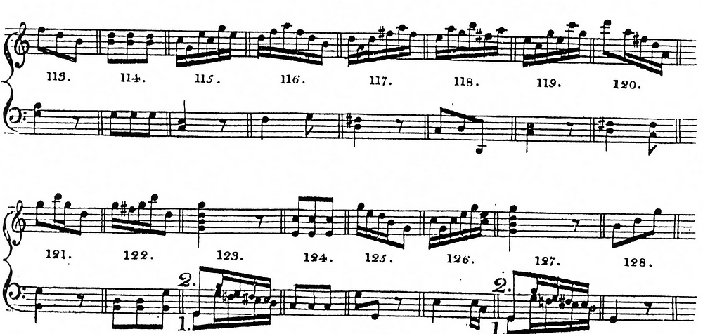 "Sheet Music from ""Musical Dice Game"" Attributed to Mozart"
