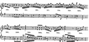 """Sheet Music from """"Musical Dice Game"""" Attributed to Mozart"""