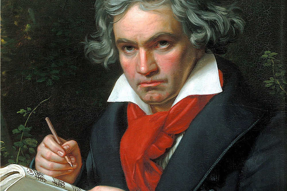 Crop of Beethoven's Portrait Painted by Joseph Karl Stieler, 1820
