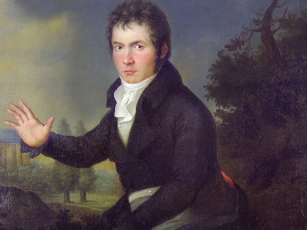 Crop of Joseph Willibrord Mähler's Beethoven Portrait 1804/05