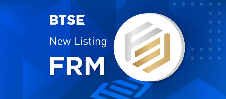 BTSE Launches FRM Spot Market
