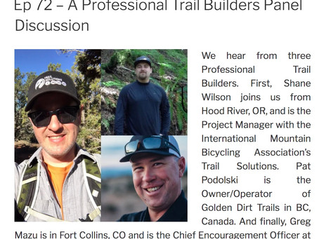 Professional Trail Building: Podcast Panel