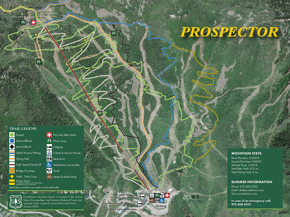 powderhorn mountain resort mountain bike trail map