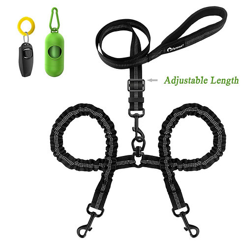 Adjustable Double Leash