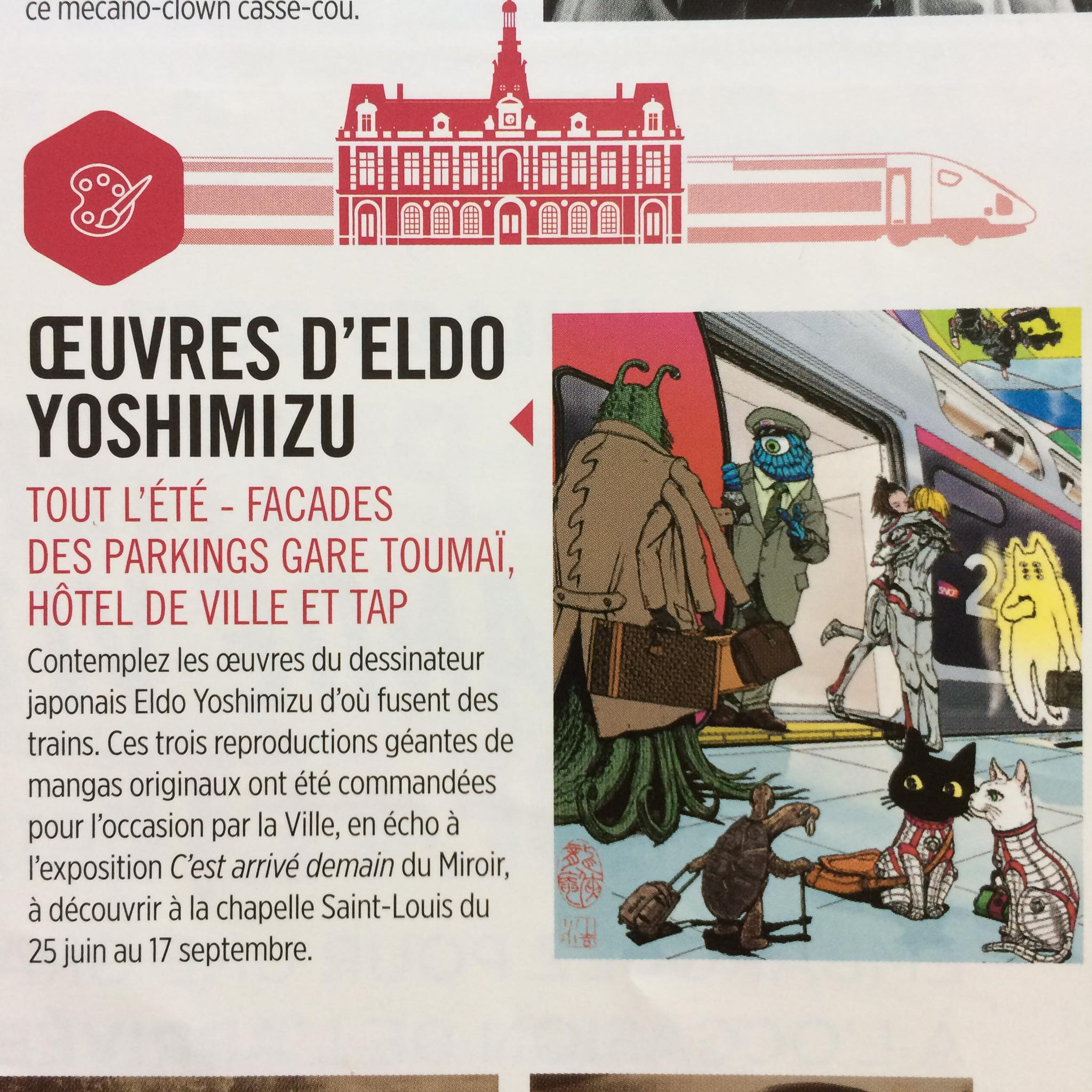 Art work for Poitiers and TGV.