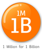 Logo of 1m1b organization