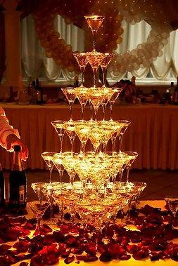 горка бокалов в Перми заказать,пирамида шампанского в Перми