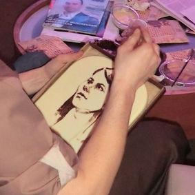 шоколадный художник Пермь Березники,шоколадный фонтан пермь березники, шоколадный фонтан на свадьбу, рисование на шоколаде, новогодний корпоратив