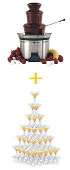 шоколадный фонтан со скидкой, пирамида шампанского со скидкой в Перми заказать