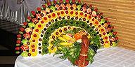 Фруктовый павлин на праздник, заказать, фрукты на праздник, фрукты на свадьбу, фуршет, оригинальный фуршет