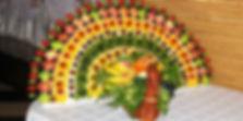 Фруктовый павлин на заказ в Перми, фруктовое ассорти на свадьбу, на стол, оригинальная подача фруктов