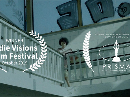 """Pressure"" Won Best Music Video Award at Indie Visions Film Festival!"