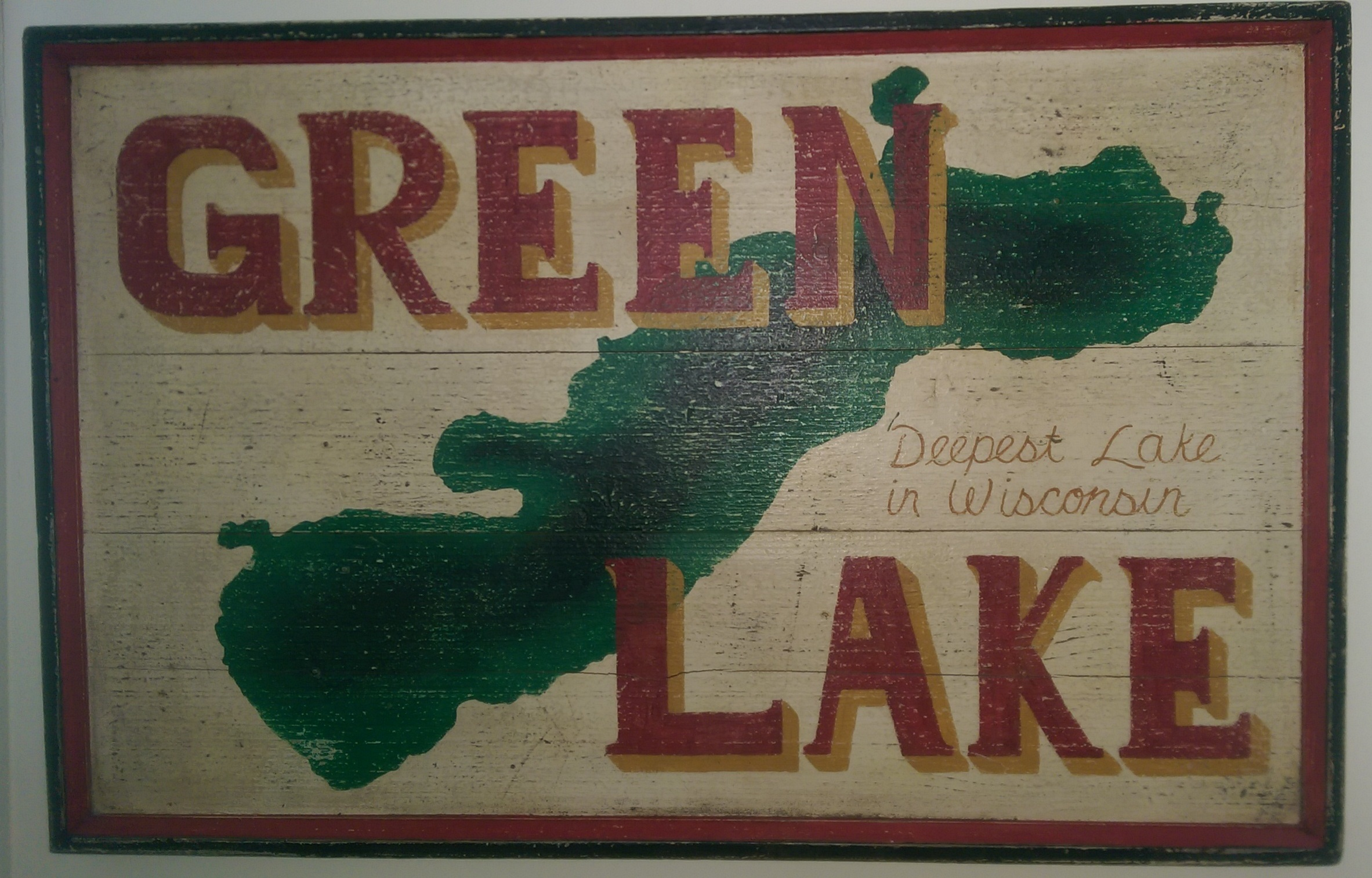 Green Lake Sign