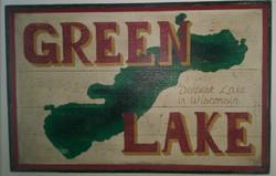 Green Lake Sign