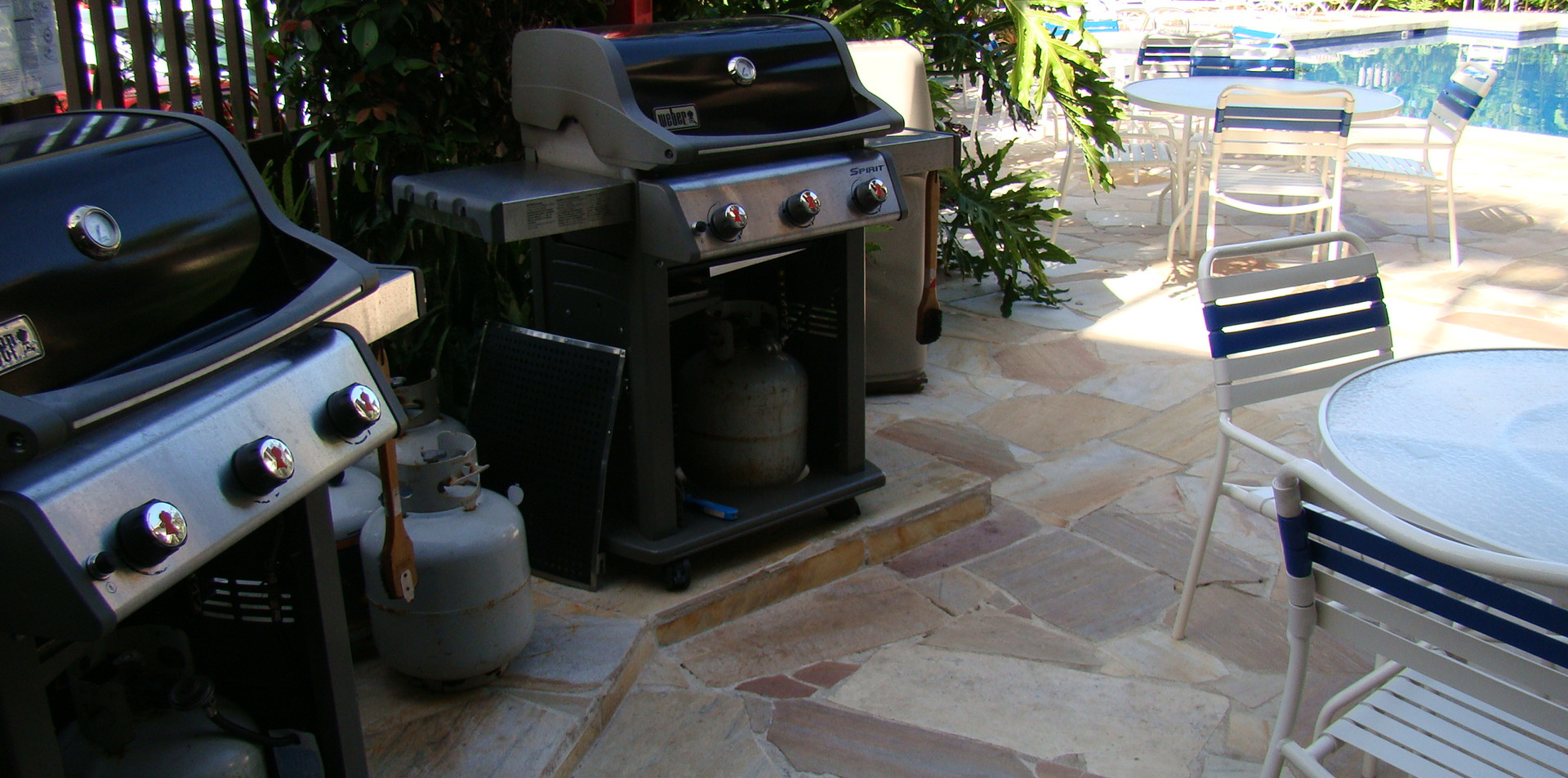 Grilling in the Pool Area