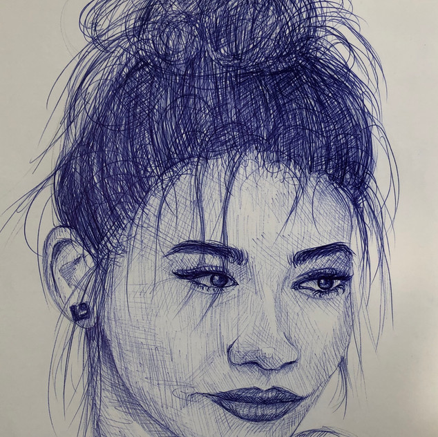 Ballpoint pen drawing