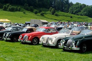Line of Jaguar XKs