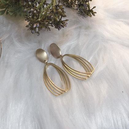 Emerita Matte Gold Circular Drop Earrings