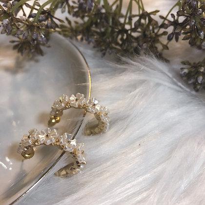 Bellanne Daisies Hoops Earrings