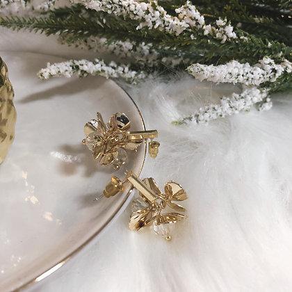 Lia Dazzling Light Golden Drop Earrings