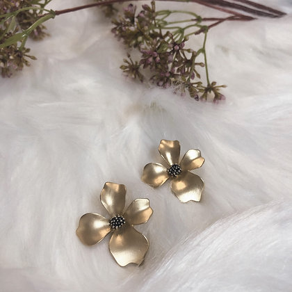 Astrid Orchid Gold Plated Earrings