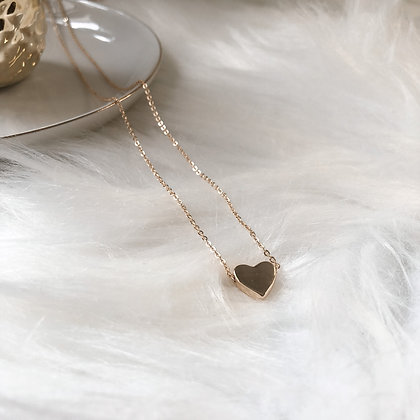 Claude Gold Heart Necklace
