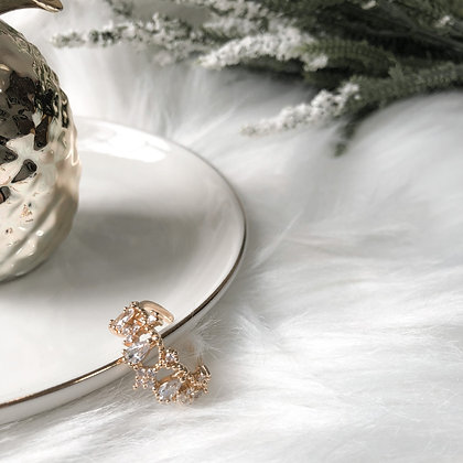 Martha Crystal Adjustable Ring