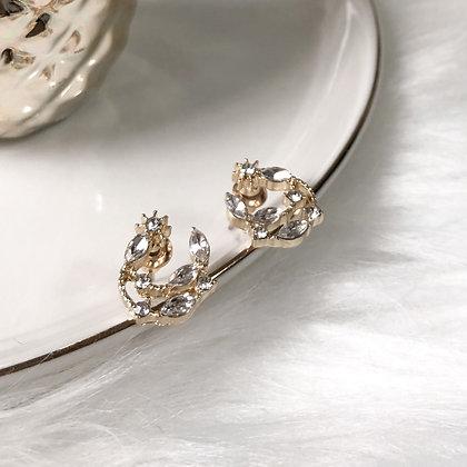 Luna Dainty Moon Stud Earrings